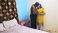 Shanaya aunty call at home and surprised fucked by her lover